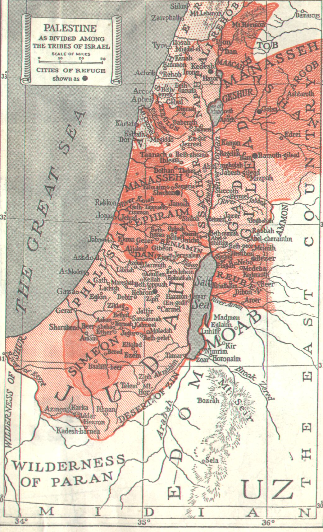 Smith Bible Atlas And Other Maps - Map of old testament israel